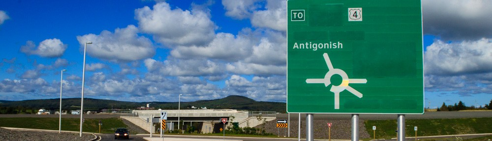 Highway 104 at Antigonish