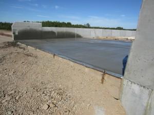 Freshly pressed concrete
