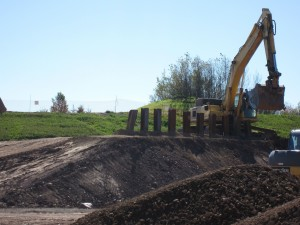 Vertical piles south